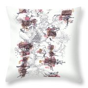 Interphases And Grains Throw Pillow