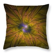 Into The Dreamy Blue Throw Pillow