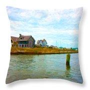 Into The Marina Throw Pillow