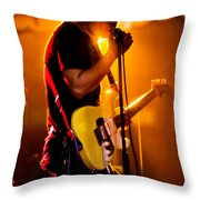Into The Mic Throw Pillow