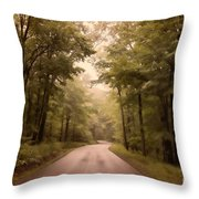 Into The Mists Throw Pillow