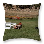 Into The Paddock Throw Pillow