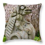 Intriguing Taino Sculpture Throw Pillow by Karen Lee Ensley