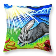 Iorek Byrnison Silvertongue Throw Pillow