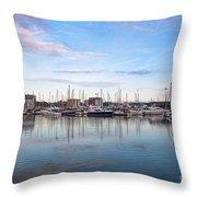 Ipswich Marina Dusk Throw Pillow