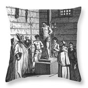 Ipswich Martyr, 1555 Throw Pillow by Granger