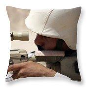 Iraqi Army Sergeant Sights Throw Pillow