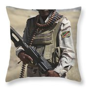 Iraqi Army Soldier Throw Pillow