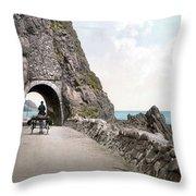Ireland: Black Cave Tunnel Throw Pillow