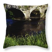 Ireland Bridge Over Water Throw Pillow