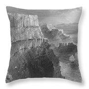 Ireland: Cliffs, C1840 Throw Pillow