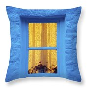 Ireland Cottage Window At Night Throw Pillow