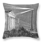 Ireland: Dublin, 1849 Throw Pillow