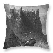 Ireland: Dunluce Castle Throw Pillow