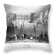 Ireland: Galway, C1840 Throw Pillow