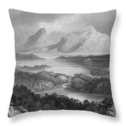Ireland: Garromin Lake Throw Pillow