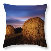 Ireland Hay Bales Throw Pillow