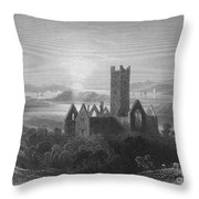 Ireland: Rosserk Abbey Throw Pillow