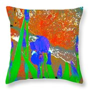Iris 31 Throw Pillow