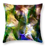 Iris 52 Throw Pillow