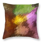 Iris Abstract II Throw Pillow
