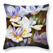 Iris Art Throw Pillow