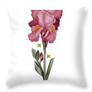 Iris I Throw Pillow