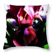 Iris Inner Beauty Throw Pillow