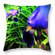 Iris Throw Pillow by Kevyn Bashore