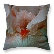 Iris Orange Beard Throw Pillow