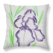 Iris Outlined Throw Pillow