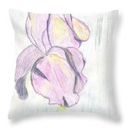 Iris Sketch Throw Pillow