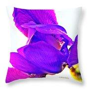 Iris Surprise  Throw Pillow