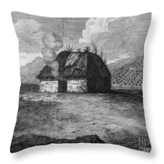 Irish Cabin, 18th Century Throw Pillow