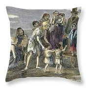 Irish Great Potato Famine Throw Pillow
