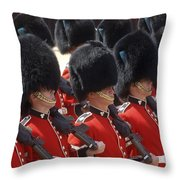 Irish Guards March Pass During The Last Throw Pillow