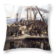 Irish Immigrants, 1850 Throw Pillow