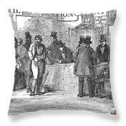 Irish Immigrants, 1851 Throw Pillow