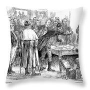 Irish Land League, 1886 Throw Pillow by Granger