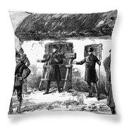Irish Land League, 1887 Throw Pillow