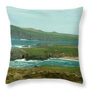 Irish Sea Coast 3 Throw Pillow