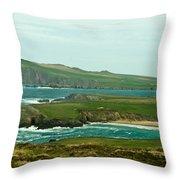 Irish Sea Coast 4 Throw Pillow