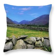 Irish Snow Scenes, Co Wicklow Throw Pillow