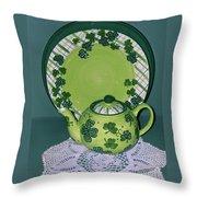 Irish Tea Throw Pillow