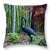 Iron Crane Poses 1 Throw Pillow