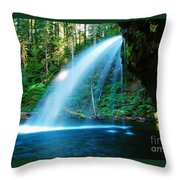 Iron Creek Falls From The Side  Throw Pillow