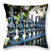 Iron Fence Throw Pillow