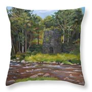 Iron Furnace Of Franconia New Hampshire Throw Pillow