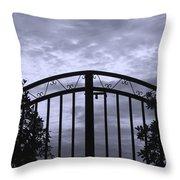 Iron Gate Throw Pillow