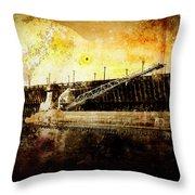 Iron Ore Freighter Throw Pillow